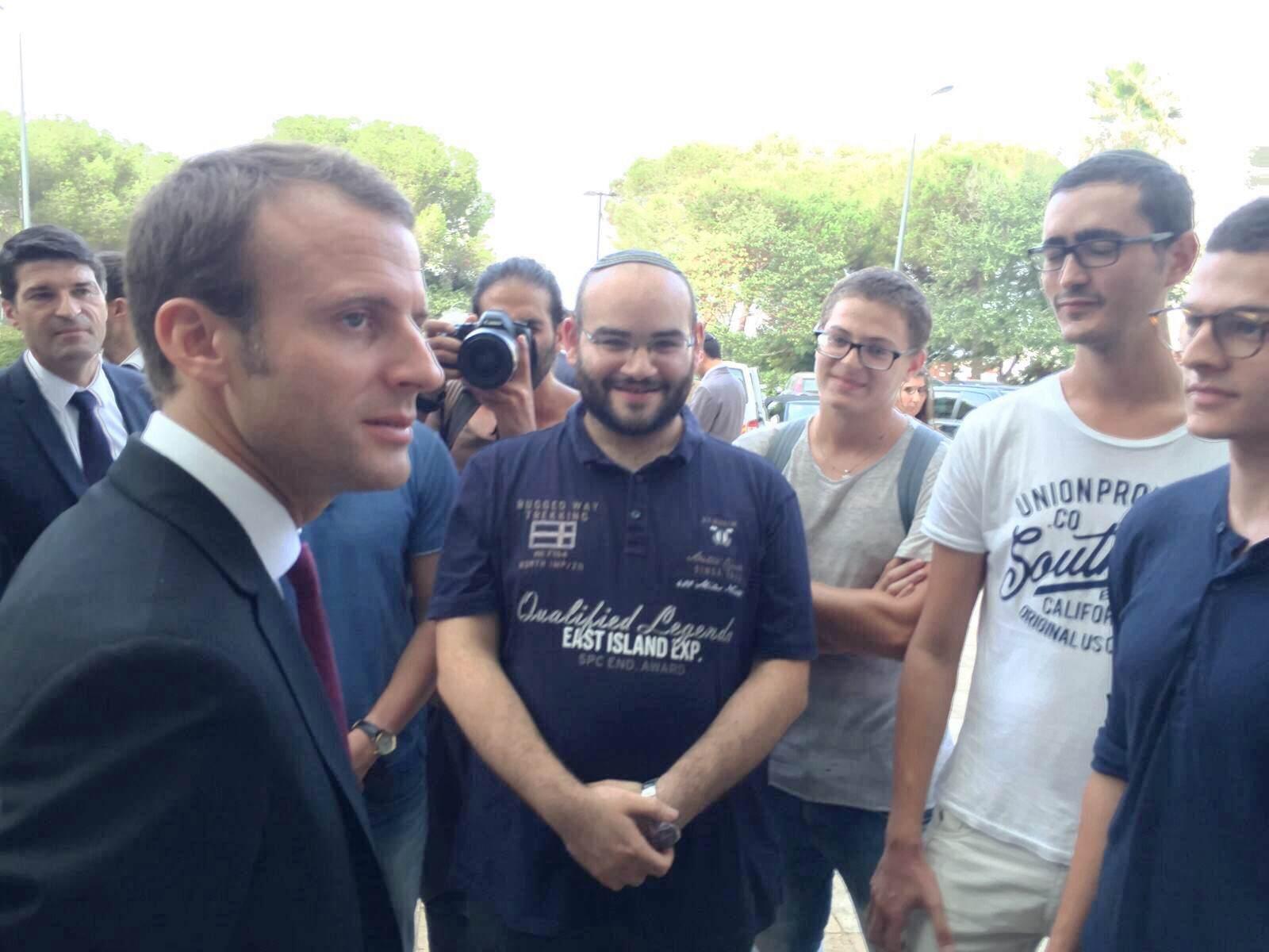 Les secrets de la visite de M Macron au Technion dévoilés par Jordan, ex de Prépa Technion